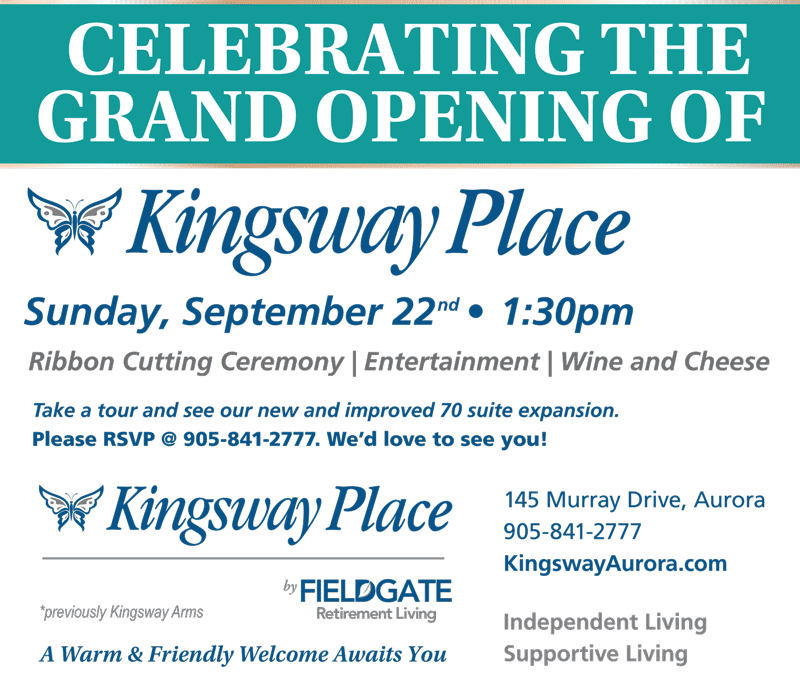 Kingsway Place Grand Opening Invitation